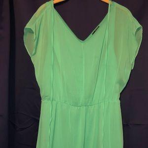 Limited sea foam green mini dress